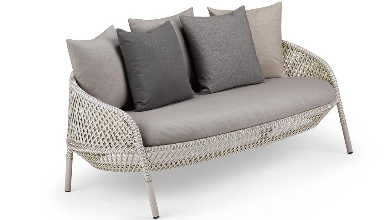 DEDON AHNDA 2er-Sofa white quartz Sonnenparadies Ferber