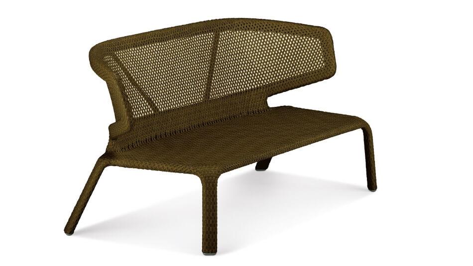 DEDON_Seashell_2er-Sofa_bronze