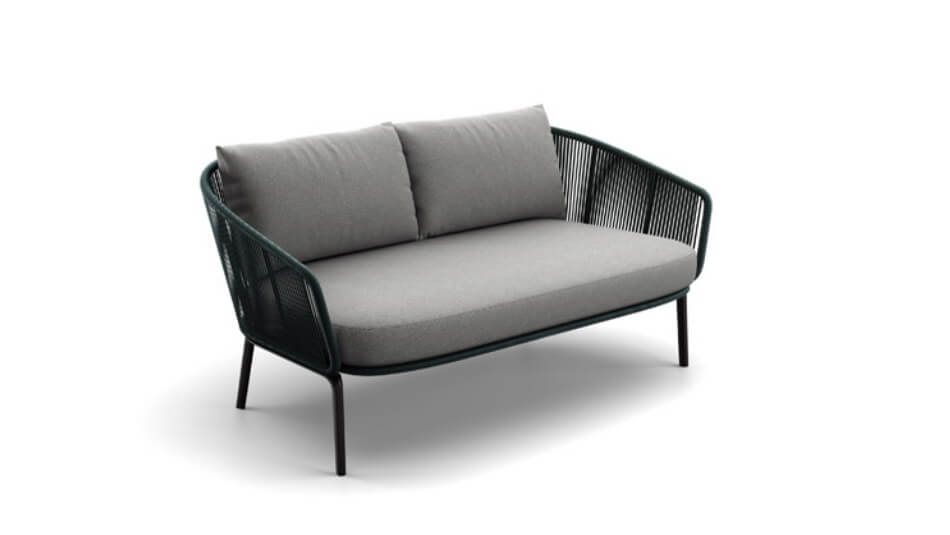 DEDON Rilly 2er-Sofa teal touch