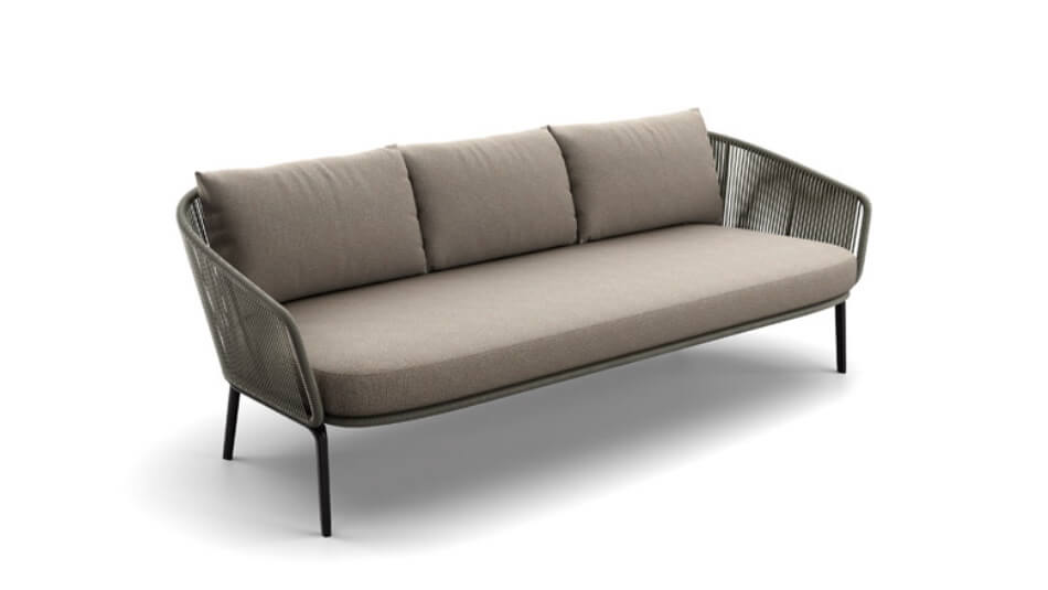 DEDON Rilly 3er-Sofa taupe touch