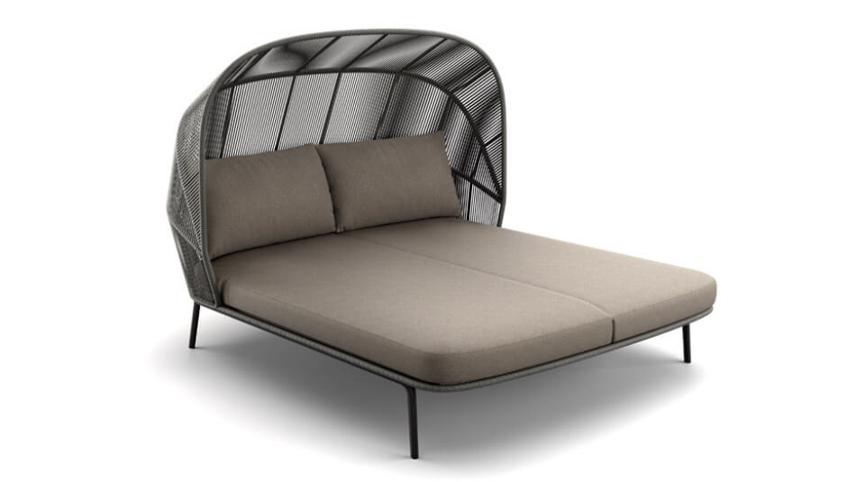 DEDON Rilly Cocoon Doppel-Daybed taupe melange