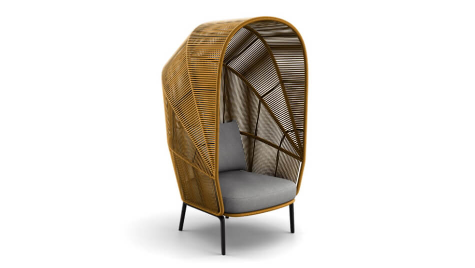 DEDON Rilly Cocoon Sessel saffron touch