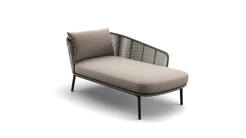 DEDON Rilly Daybed links taupe touch