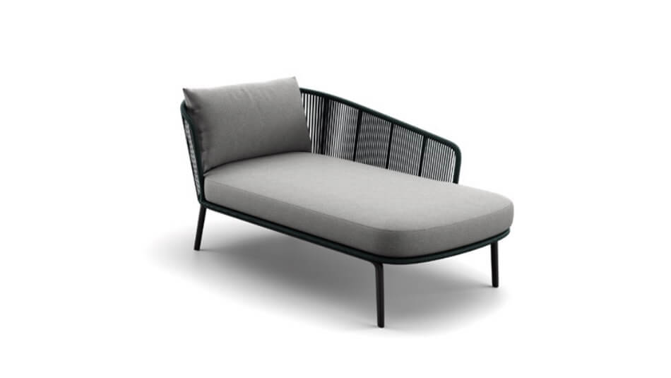 DEDON Rilly Daybed links teal touch