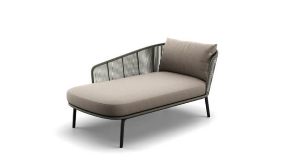 DEDON Rilly Daybed rechts taupe touch