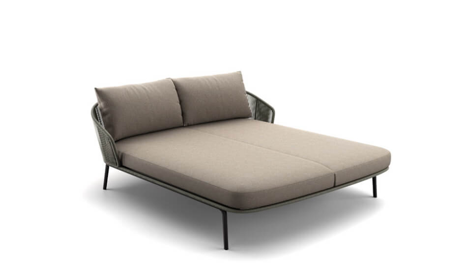 DEDON Rilly Doppel-Daybed taupe touch