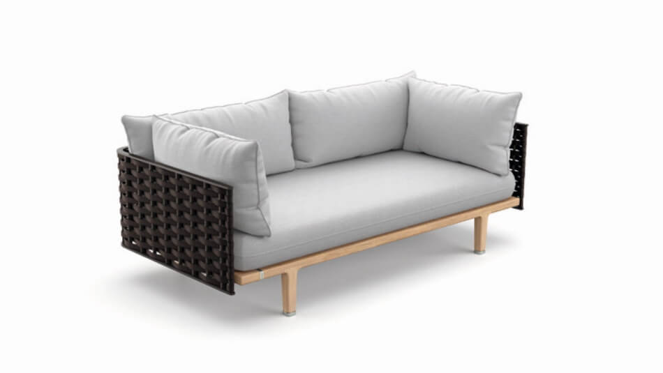 DEDON Sealine 2er-Sofa slate