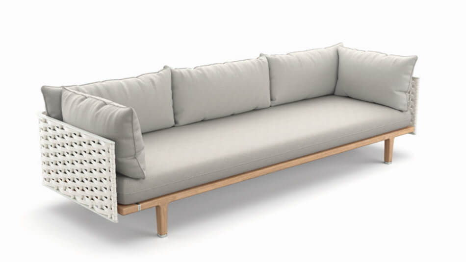 DEDON Sealine 3er-Sofa silver beige