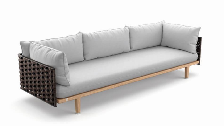 DEDON Sealine 3er-Sofa titan
