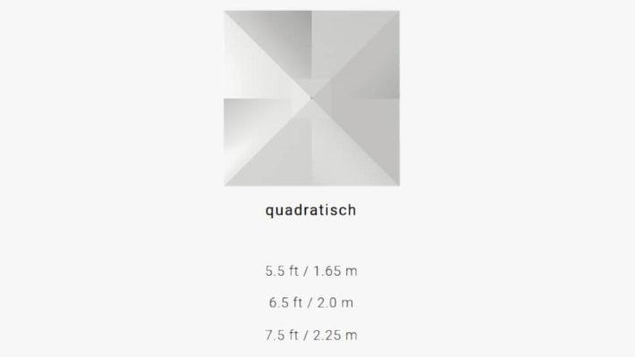 TUUCI Bay Master M1 Fiber-Flex quadratisch