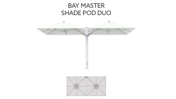 TUUCI Bay Master M1 Shade Pod Duo Cantilever quadratisch