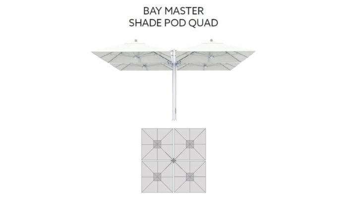 TUUCI Bay Master M1 Shade Pod Quad Cantilever quadratisch