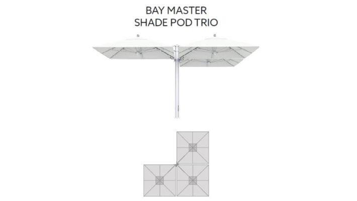 TUUCI Bay Master M1 Shade Pod Trio Cantilever quadratisch