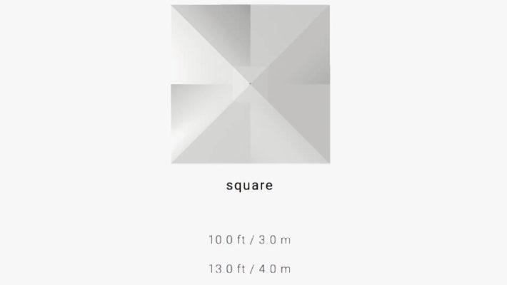 TUUCI Bay Master MAX Classic Schirmform und Maße quadratisch